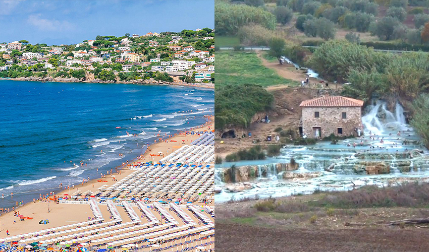 beaches and spa towns